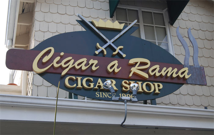 Cigar a Rama of Brentwook, LA, CA by Dennis Knicely Master Sign Maker